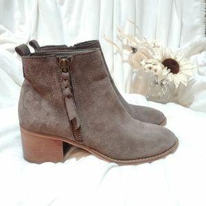 BP Shoes - BP Just Block Heel Booties 8.5 Gray Suede
